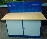 Stół warsztatowy z niską nadbudową, 2 szafki (wymiary: 1500x750x900 mm) 77156976