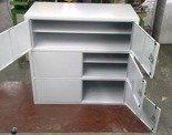 Szafa narzędziowa 3-poziomowa, 6 drzwi (wymiary: 1000x1000x460 mm) 77157258