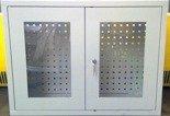 Szafka narzędziowa wisząca przeszklona, 1 półka, 2 drzwi (wymiary: 600x800x300 mm) 77170772