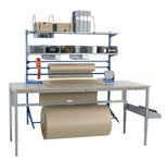 Zestaw do pakowania + Solidny stół warsztatowy GermanTech z regulacją wysokości 720-970mm (maks. obciążenie: 150 kg, wymiary: 2000x800mm) 99767960
