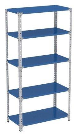 00173960 Regal metalowy skręcany wzmocniony ocynkowany, 5 półek (nośność półki: 250 kg, wymiary:  2000x1000x500 mm)