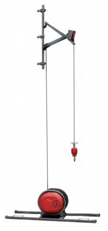 DOSTAWA GRATIS! 08174744 Napęd wciągarki przykręcana + szyna H + lina 30m (udźwig: 325 kg)
