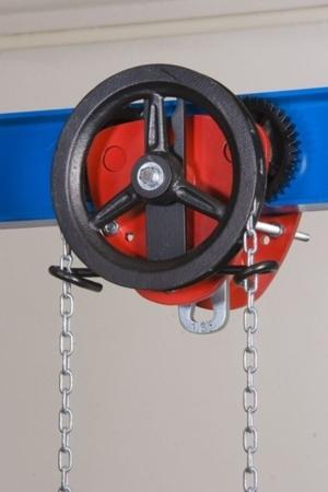 DOSTAWA GRATIS! 22038999 Wózek jedno-belkowy z napędem ręcznym Z420-A/5.0t/4m (wysokość podnoszenia: 4m, szerokość dwuteownika od: 113-137mm, udźwig: 5 T)