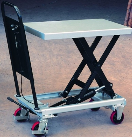 DOSTAWA GRATIS! 310561 Ruchomy stół podnośny (udźwig: 250 kg, wymiary platformy: 830x500 mm, wysokość podnoszenia min/max: 315-910 mm)
