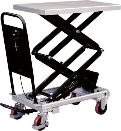 DOSTAWA GRATIS! 310566 Ruchomy stół podnośny (udźwig: 800 kg, wymiary platformy: 1010x520 mm, wysokość podnoszenia min/max: 470-1410 mm)