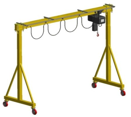 DOSTAWA GRATIS! 33971480 Wciągarka bramowa skręcana miproCrane DELTA 300, wciągnik łańcuchowy elektryczny zintegrowany z wózkiem + kaseta sterująca (udźwig: 2000 kg, wysięg: 5000 mm, wysokość podnoszenia: 4080 mm)