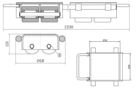 DOSTAWA GRATIS! 443667956 Podwójne rolki transportowe, transportery (udźwig: 6000 kg)