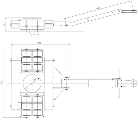 DOSTAWA GRATIS! 4994001 Podwozie transportowe (nośność: 30T)