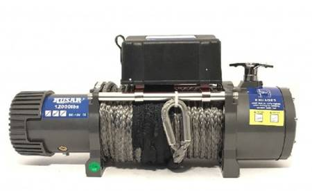 DOSTAWA GRATIS! 51971662 Wyciągarka Husar z liną syntetyczną 24V (uźwig: 12000lbs / 5443 kg, długość liny: 28m)