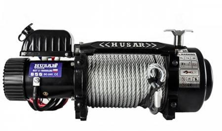 DOSTAWA GRATIS! 51971672 Wyciągarka Husar z liną stalową 12V (uźwig: 18000lbs / 8165 kg, długość liny: 25,5m)