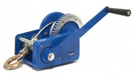 DOSTAWA GRATIS! 51971691 Wyciągarka ręczna Husar z liną stalową (udźwig: 2000lbs / 907 kg ,długość liny: 10m)