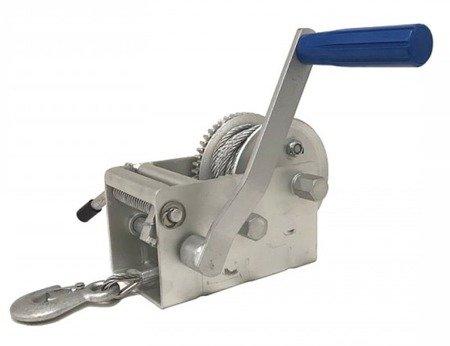 DOSTAWA GRATIS! 51973691 Wyciągarka ręczna Husar z liną stalową (udźwig: 4500lbs / 2000 kg, długość liny: 8m)