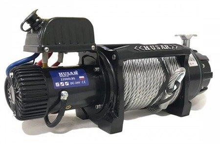 DOSTAWA GRATIS! 51973692 Wyciągarka Husar z liną stalową (uźwig: 2200lbs / 9979 kg, długość liny: 28,5m)