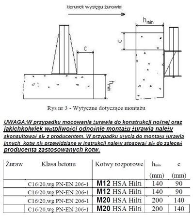 DOSTAWA GRATIS! 53372538 Żuraw ze stopą AISI304 i wciągarką ręczną z liną AISI316 12m (udźwig: 250 kg, wysokość podnoszenia: 1945-2440 mm)