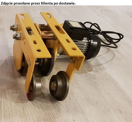 DOSTAWA GRATIS! 55928533 Wózek elektryczny Industrial 1T - szerokość belki dwuteownika do 100mm (udźwig: 1 T)