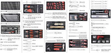 DOSTAWA GRATIS! 65669922 Wózek, szafka serwisowa z narzędziami, 7 szuflad, 141 narzędzia (wymiary: 93,2x66,5x45,3 cm)