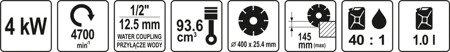 DOSTAWA GRATIS! 65669936 Przecinarka do betonu i stali (tarcza: 400mm, moc: 5,44 KM)
