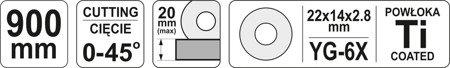 DOSTAWA GRATIS! 65669939 Przyrząd do cięcia glazury (max długości cięcia: 900 mm)