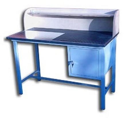 DOSTAWA GRATIS! 77156890 Stół warsztatowy z nadbudową, 1 szafka (wymiary: 1250x600x820 mm)
