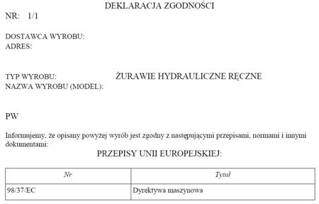 HYDIA Żuraw hydrauliczny ręczny z przeciwwagą (udźwig do 1000 kg) 61714830