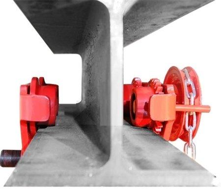 LIFERAIDA Wózek ręczny jezdny z łańcuszkiem i napędem (udźwig: 3,0 T, szerokość belki jezdnej: 160-300 mm, wysokość łańcucha manewrowego: 3m) 0301442