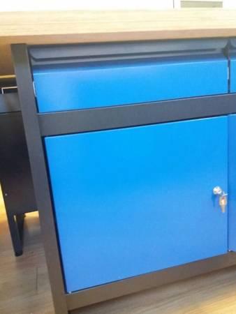 Oszlo Stół warsztatowy, blat 40mm (wymiary: 1700x600x840 mm) 18376599