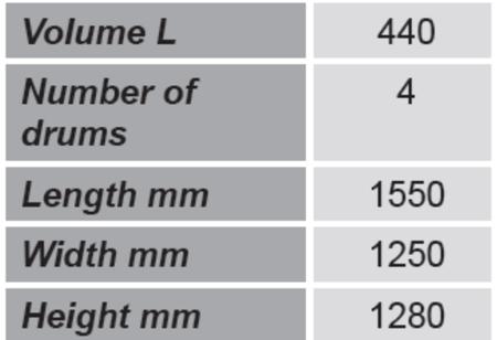 Paleta do beczek GermanTech (ilość beczek: 4, wymiary: 1550x1250x1280 mm) 99724724