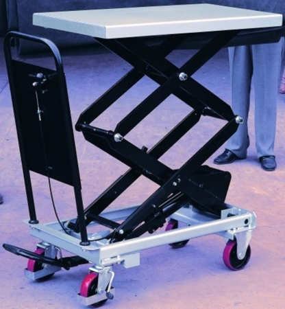 Ruchomy stół podnośny (udźwig: 800 kg, wymiary platformy: 1010x520 mm, wysokość podnoszenia min/max: 470-1410 mm) 310566