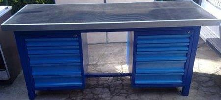 Stół warsztatowy ciężki, 10 szuflad (wymiary: 2000x750x900 mm) 77156965