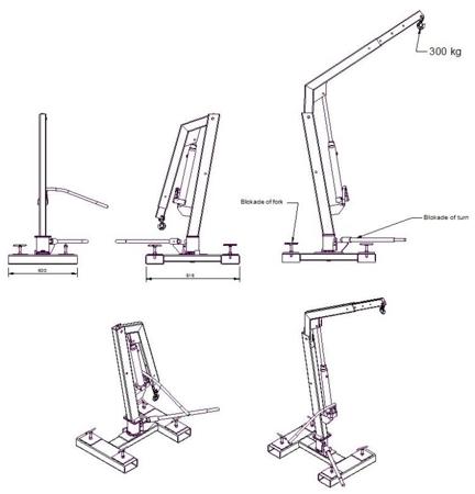 Tretok 61730189 Żuraw do wózka widłowego (udźwig: 300 kg)