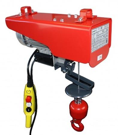 Wciągarka elektryczna linowa budowlana + lina 30m + sterowanie ręczne 1,5m (udźwig: 200 kg) 08115156