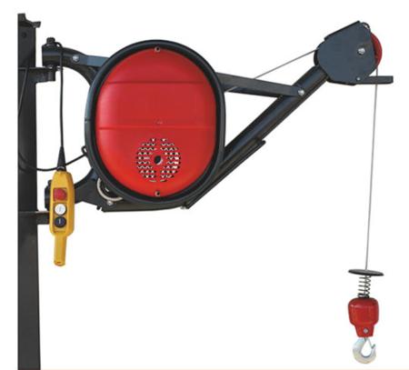 Wciągarka elektryczna linowa budowlana + lina 30m + sterowanie ręczne 1,5m (udźwig: 325 kg) 08115185