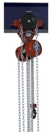 Wciągnik łańcuchowy przejezdny (wysokość podnoszenia: 3m, szerokość belki: 58-113 mm, udźwig: 1 T) 22077025