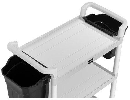 Wózek hotelowy Uniprodo - 2 plastikowe pojemniki  (maks. obciążenie: 150 kg) 45674766