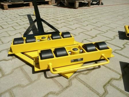 Wózek skrętny 8 rolkowy z prostokątną płytą nośną, rolki: 8x nylon (nośność: 6 T) 12267441