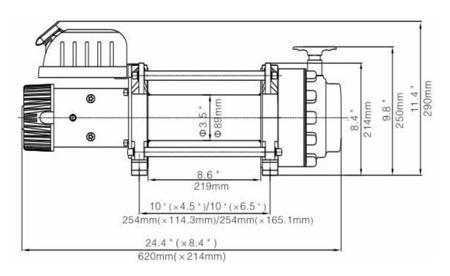 Wyciągarka Escape EVO 17500 lbs [7938kg] z liną syntetyczną 12V (lina: 10mm 25m) 81877786