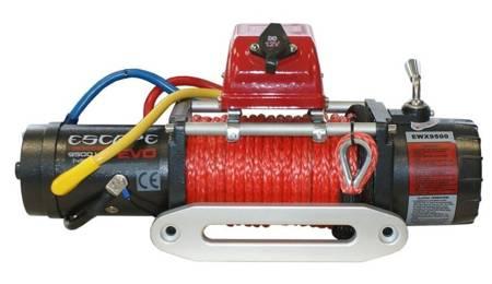Wyciągarka Escape EVO 9500 lbs [4309 kg] EWX-QF z liną syntetyczną 12V (lina: 10 mm w oplocie 28 m 10400 kg +hak) 81877760