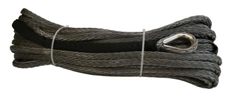 Wyciągarka XTR 13500lbs [6130kg] z liną syntetyczną 12V (lina: 10 mm w oplocie 25m 10400 kg +hak) 81877816